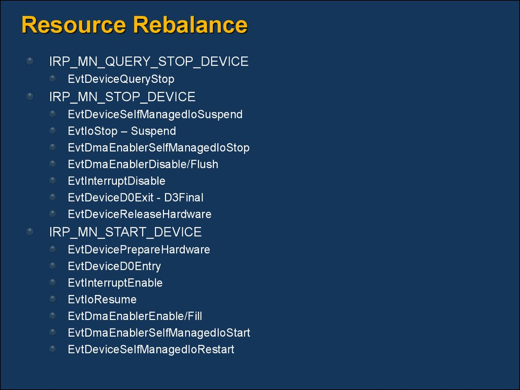 Resource Rebalance