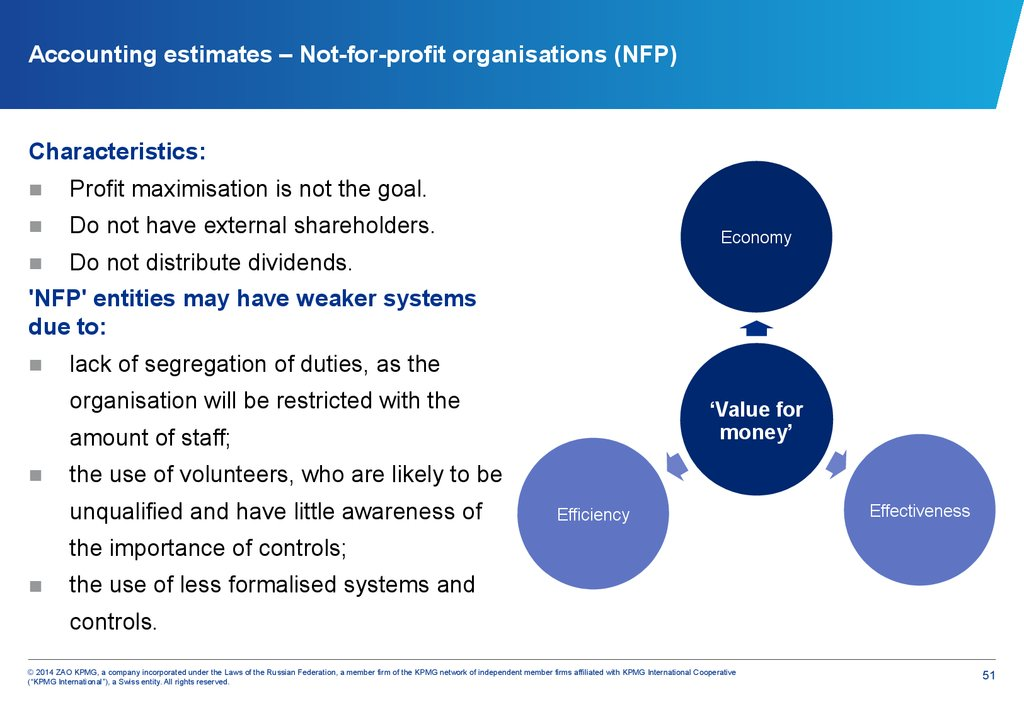 Accounting estimates – Not-for-profit organisations (NFP)