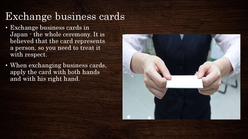 Exchange business cards