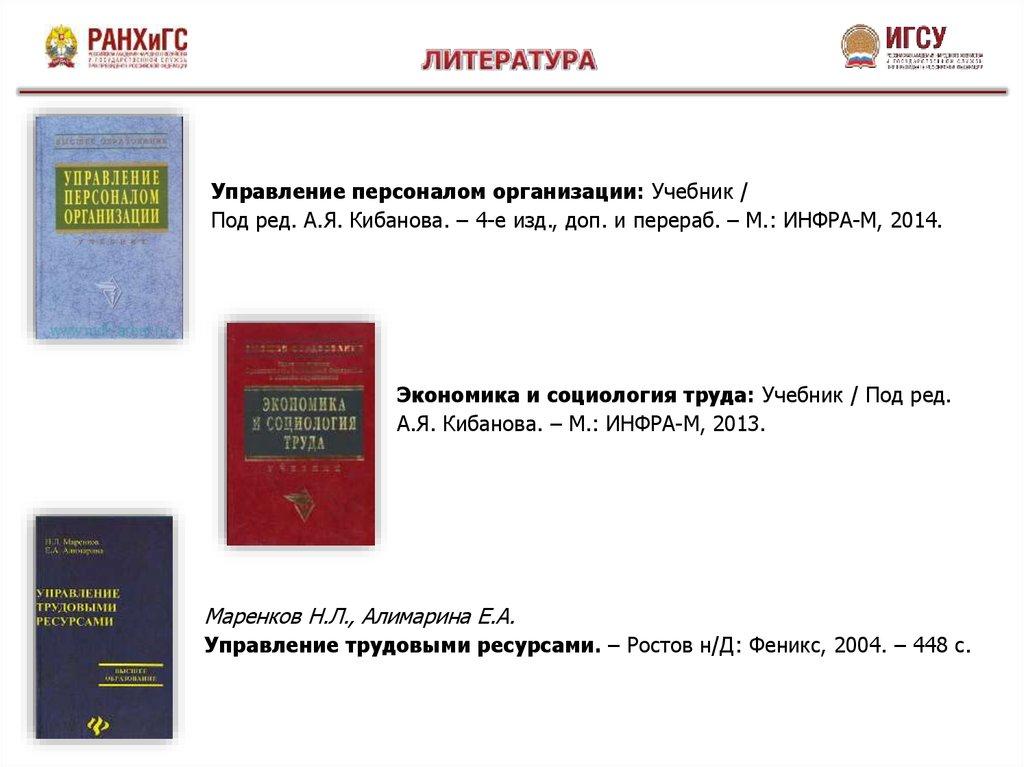 Управление персоналом организации: конспекты лекций.