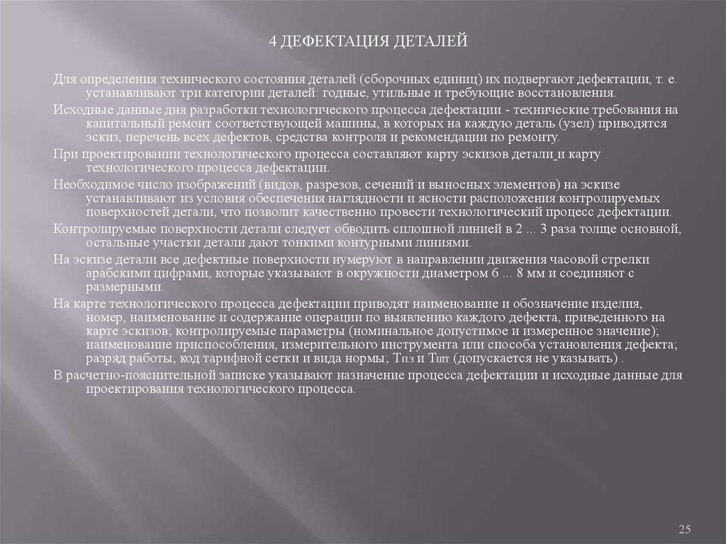Требования к содержанию и оформлению конструкторской части  25