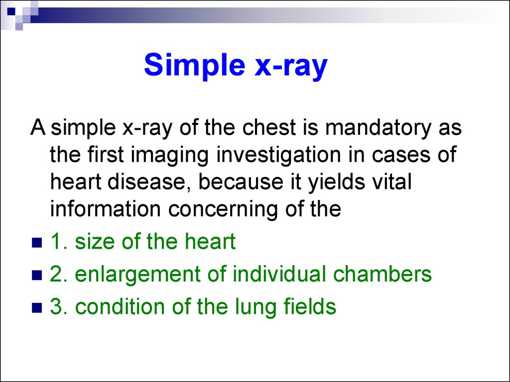 Simple x-ray