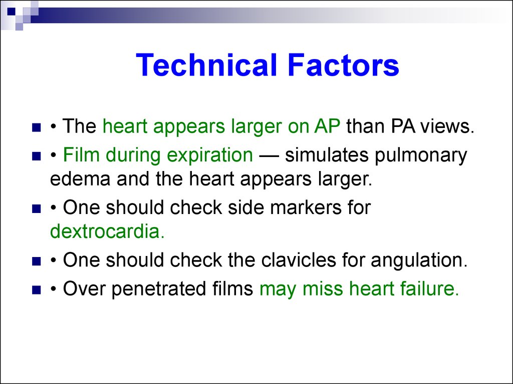 Technical Factors