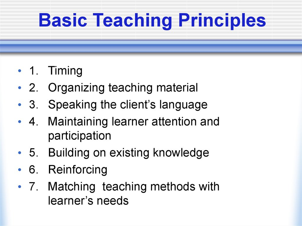 Teaching- learning process - online presentation