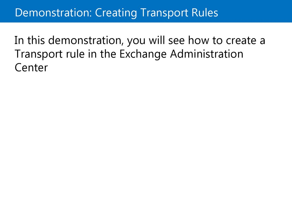 What Are Transport Rules?