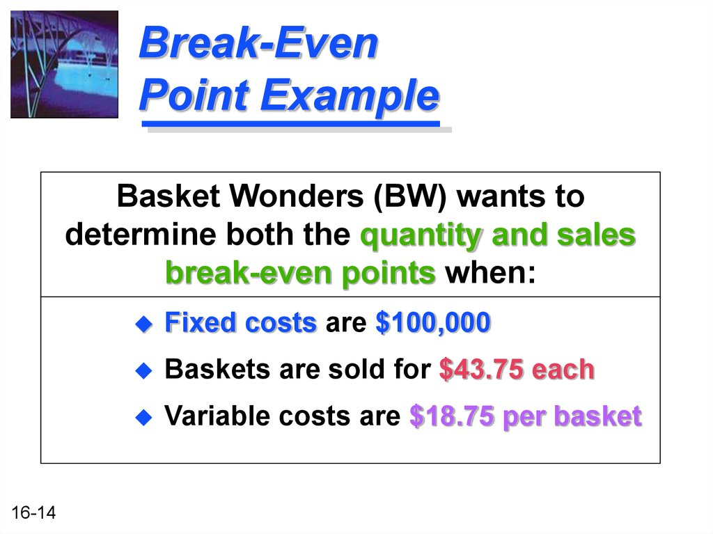 pizza and break even point essay Essay on break-even analysis (bea) this relationship is determined by a break-even point essay # 8 uses of break-even analysis:.