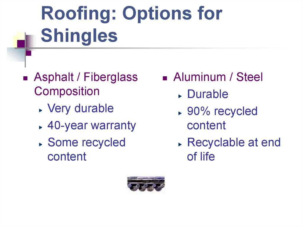 Roofing: Options for Shingles