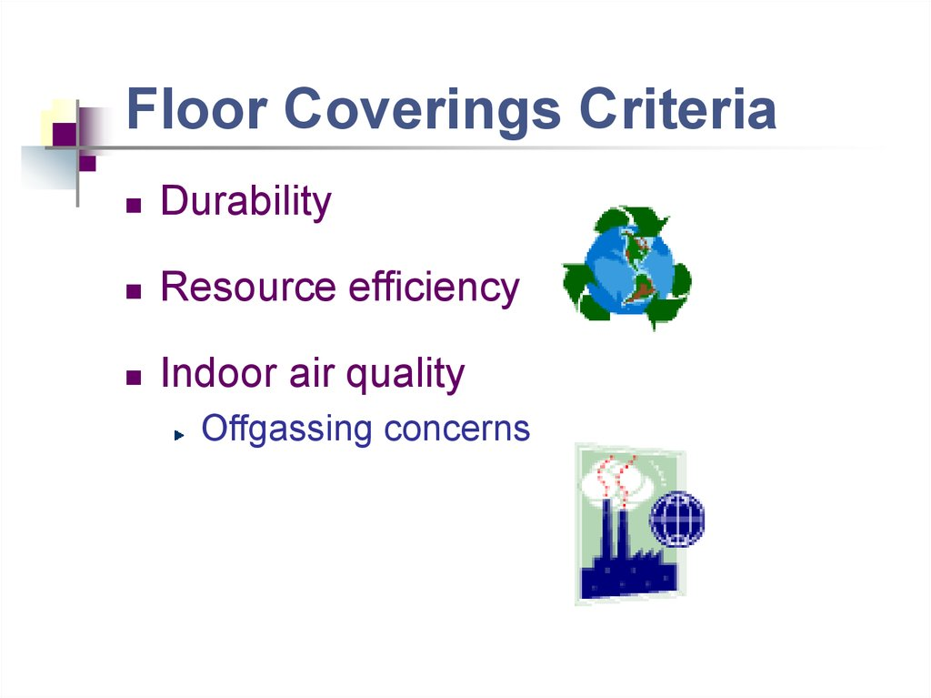 Floor Coverings Criteria