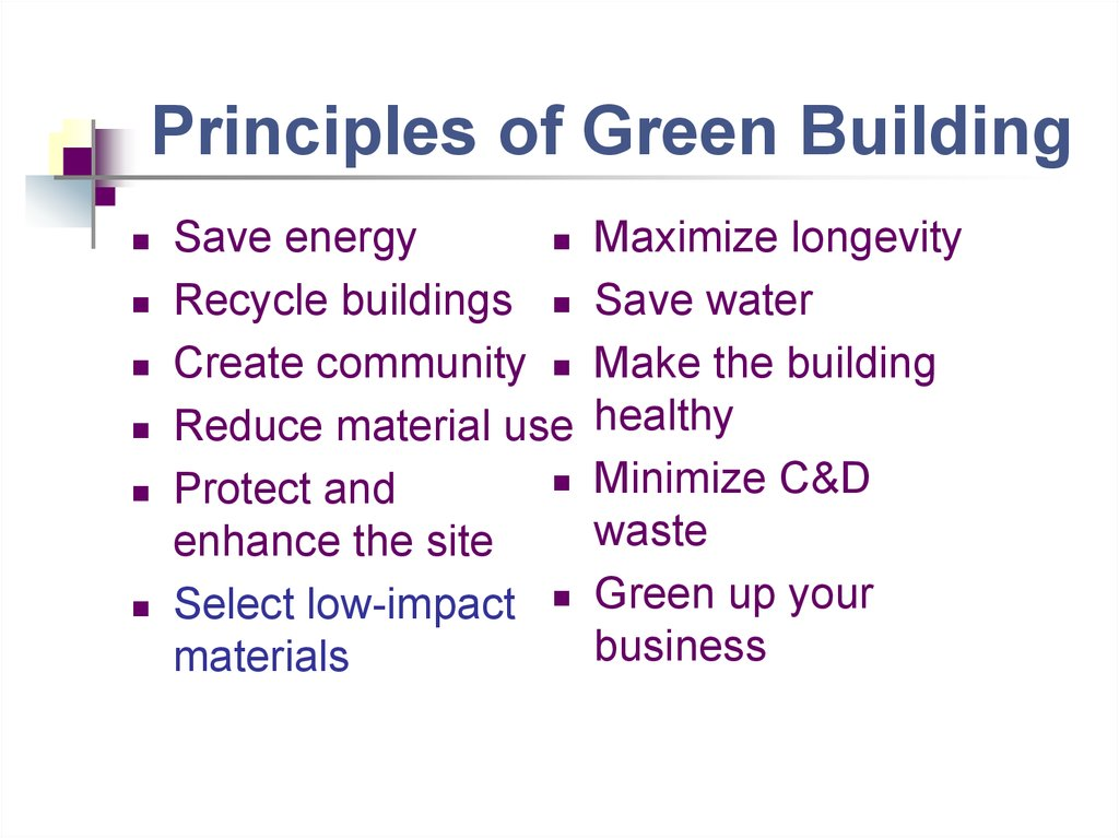 Principles of Green Building