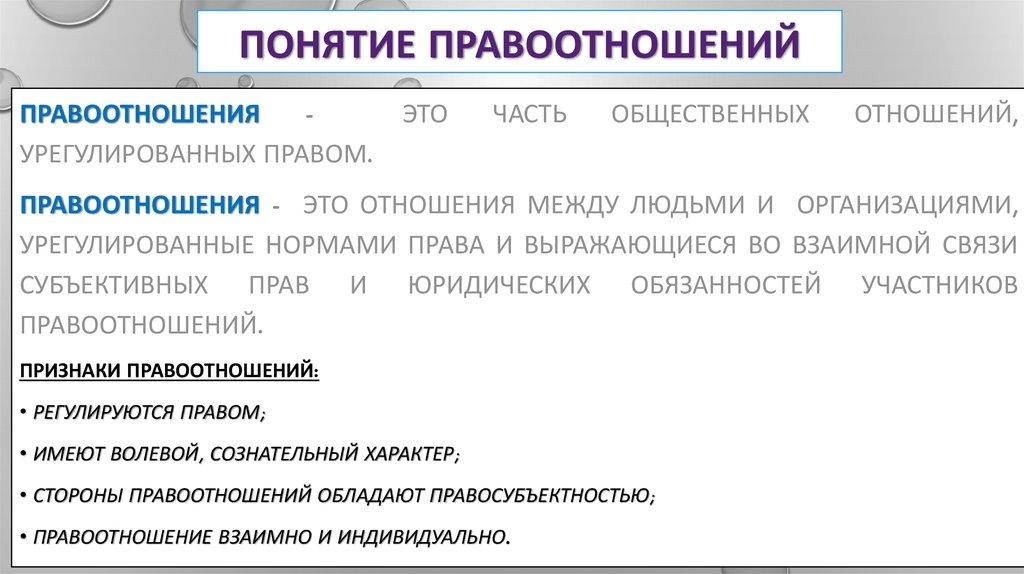 Состав (строение) Правоотношений Шпаргалка