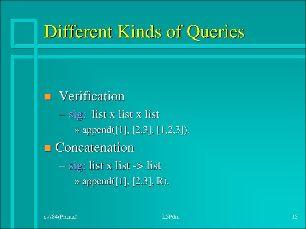 Different Kinds of Queries