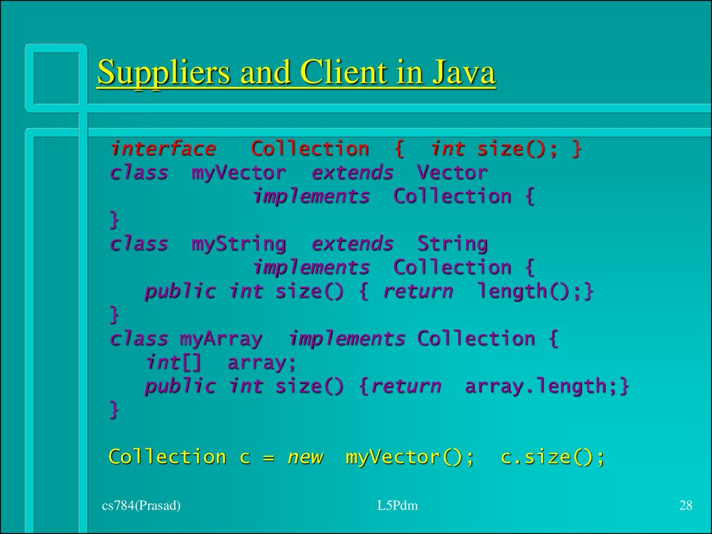 Suppliers and Client in Java