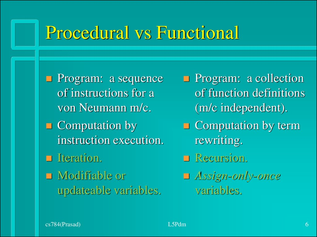 Procedural vs Functional