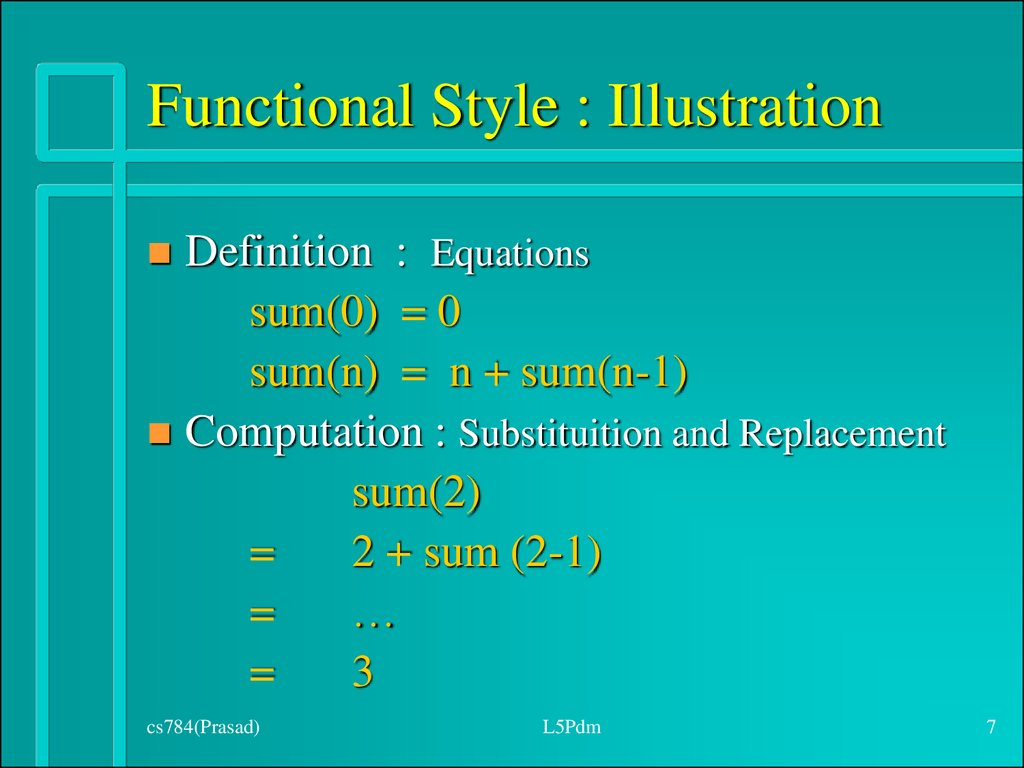 Functional Style : Illustration