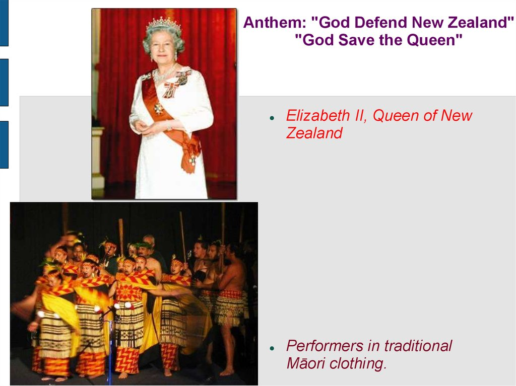 "Anthem: ""God Defend New Zealand"" ""God Save the Queen"""