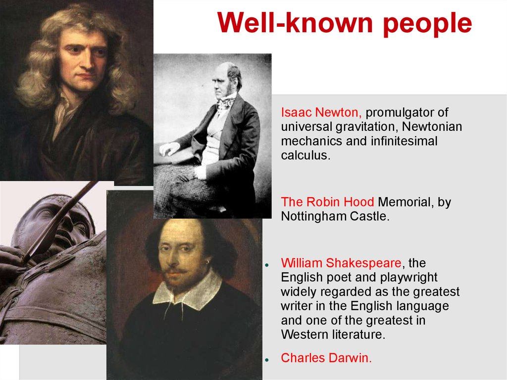 Well-known people