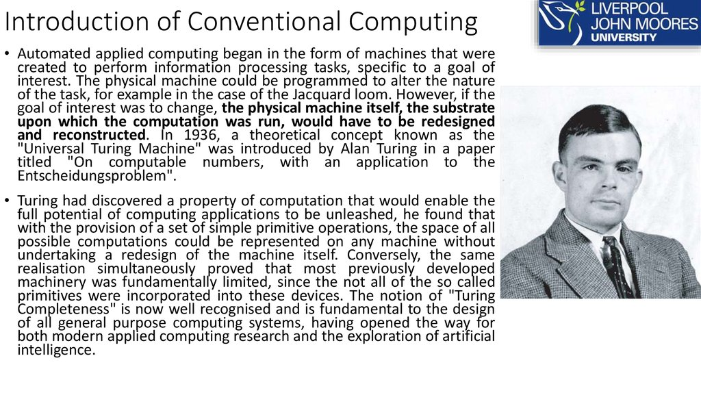 Introduction of Conventional Computing