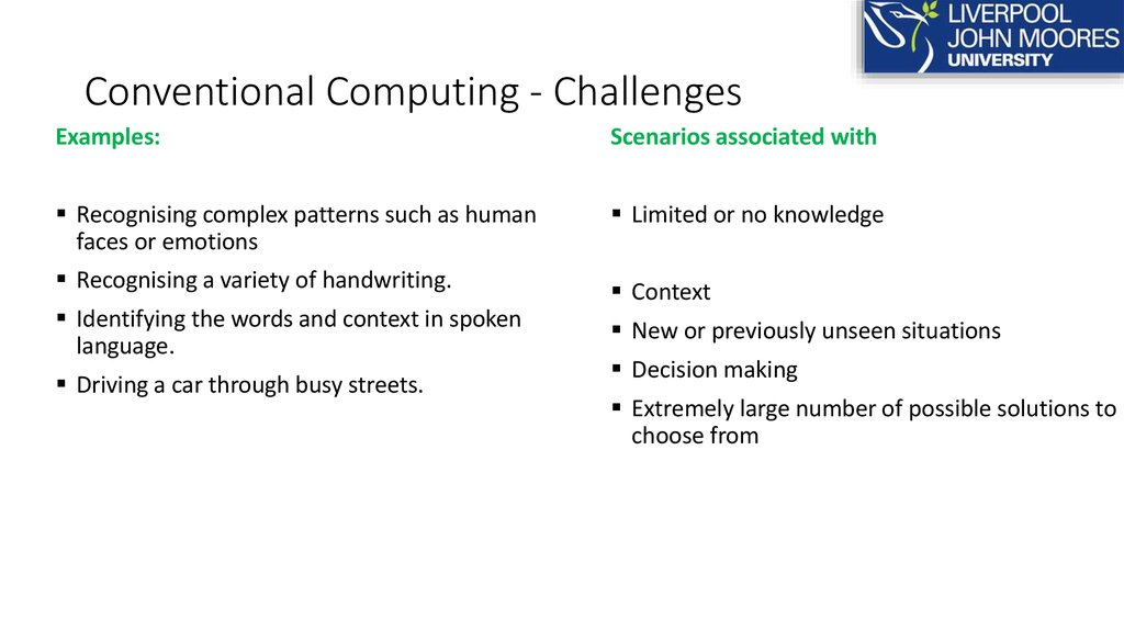 Conventional Computing - Challenges