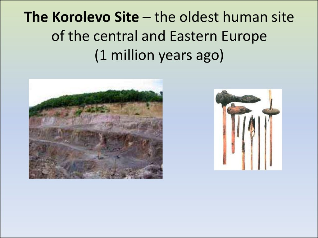 The Korolevo Site – the oldest human site of the central and Eastern Europe (1 million years ago)