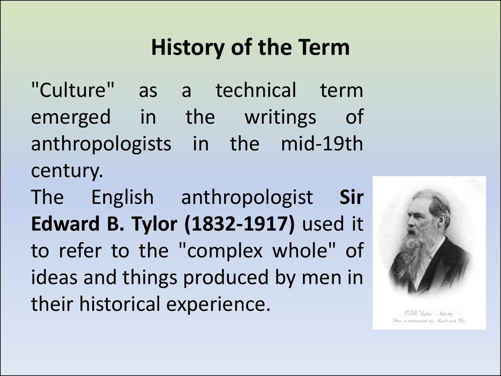 History of the Term