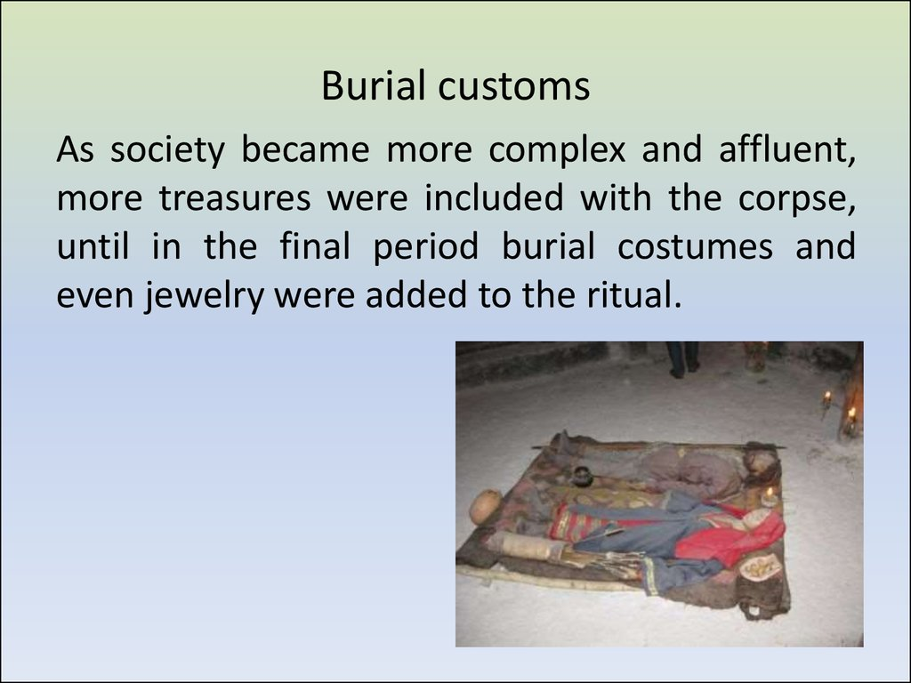 Burial customs