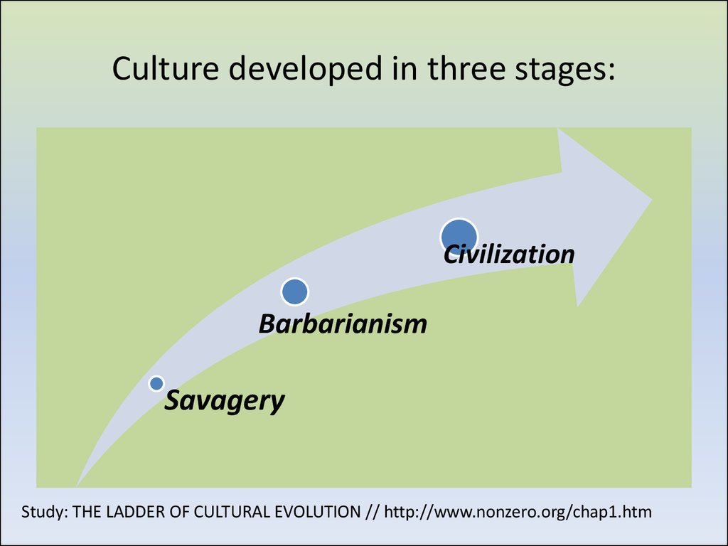 Culture developed in three stages: