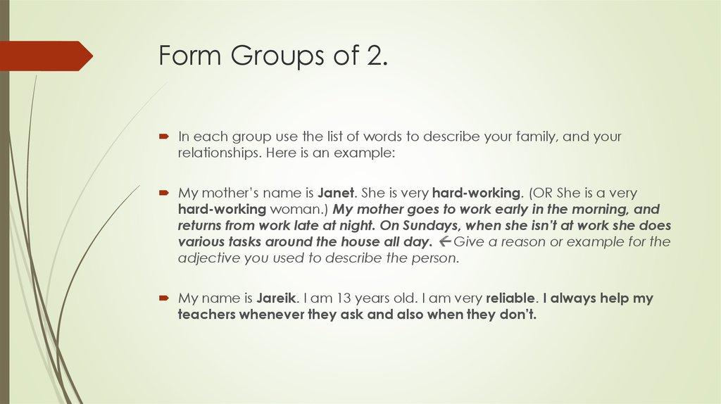 Speaking English - online presentation