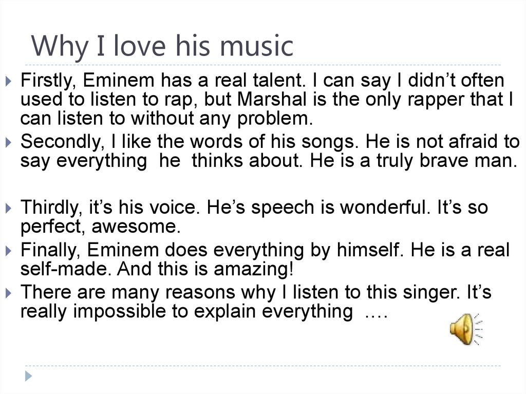 Why I love his music