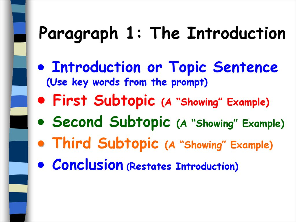 subtopic examples
