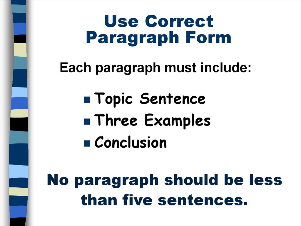 3 paragraph essay form The five-paragraph essay is a form of essay having five paragraphs: one introductory paragraph, three body paragraphs with support and development, and.