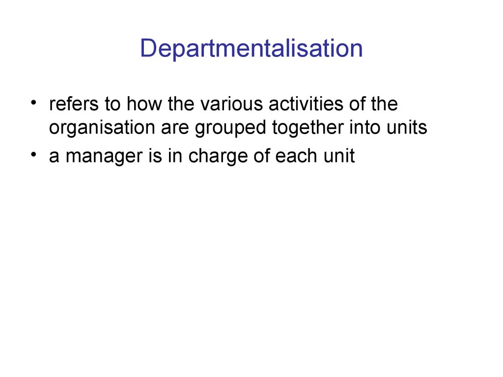 types of departmentalization used by business organisations in malaysia