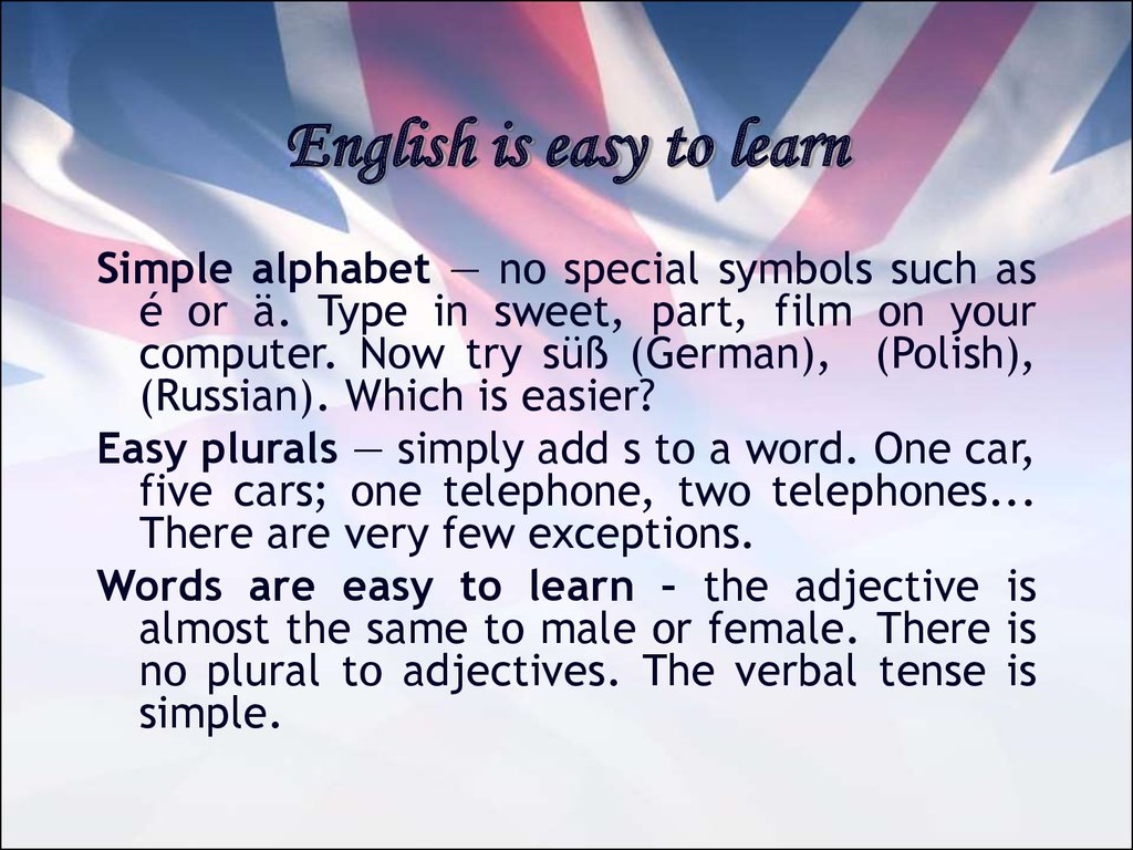 English is easy to learn