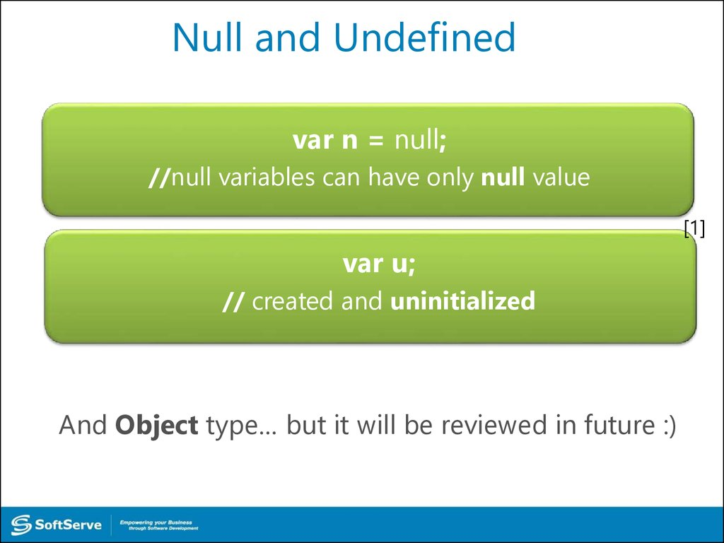 Null and Undefined