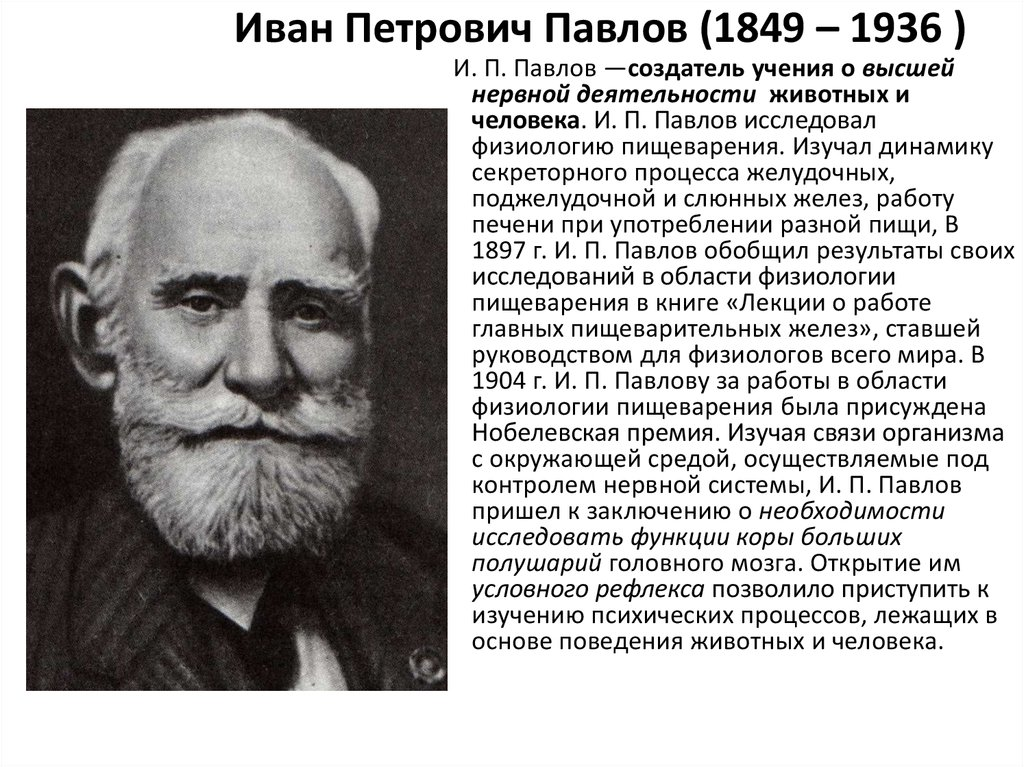 a biography of ivan petrovich pavlov russian doctor Biography of ivan petrovich pavlov research our constantly updated database of famous biographies order custom written paper on ivan petrovich pavlov.