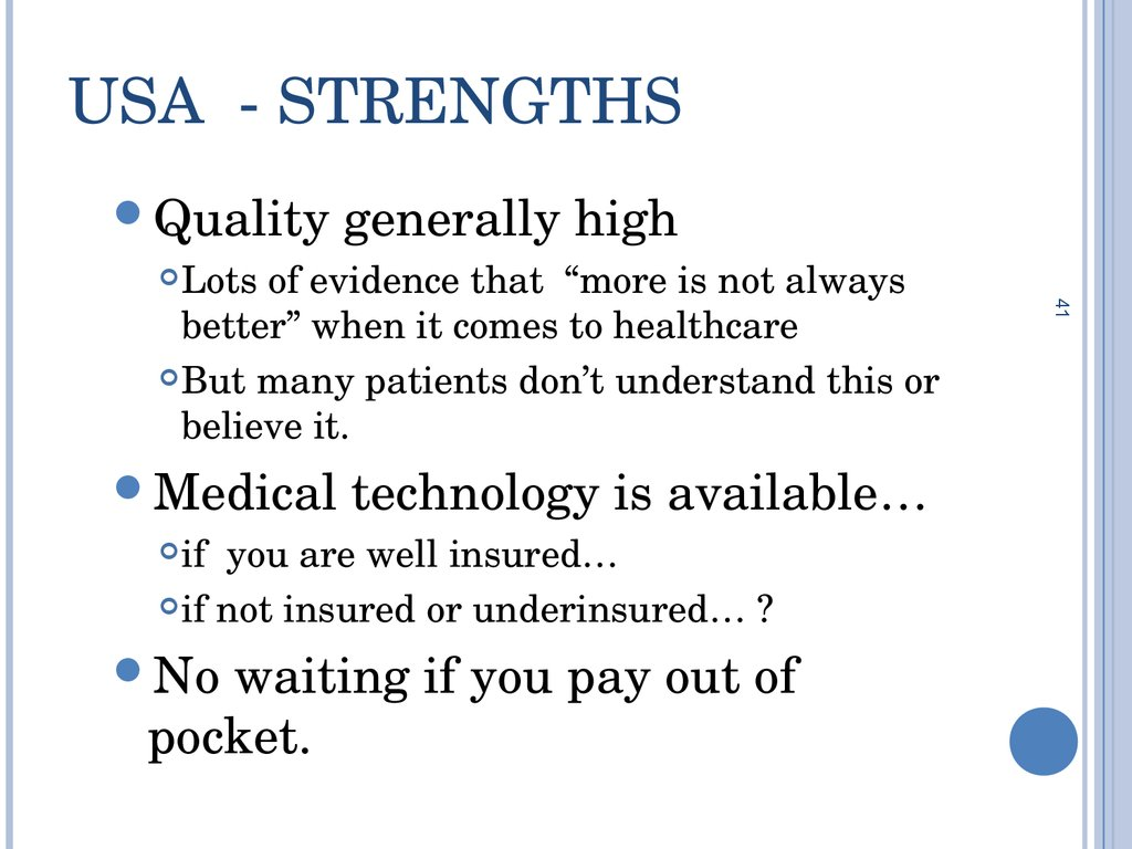 USA - Strengths