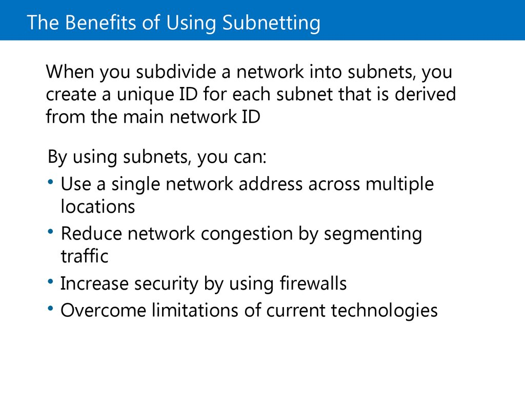 The Benefits of Using Subnetting