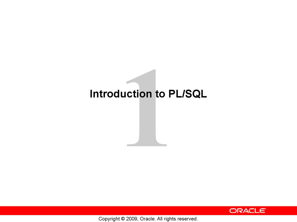 Oracle: plsql introduction.