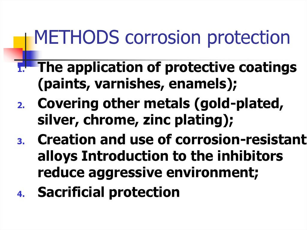 METHODS corrosion protection