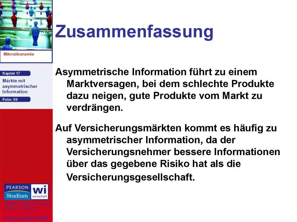 Märkte mit asymmetrischer Information - online presentation