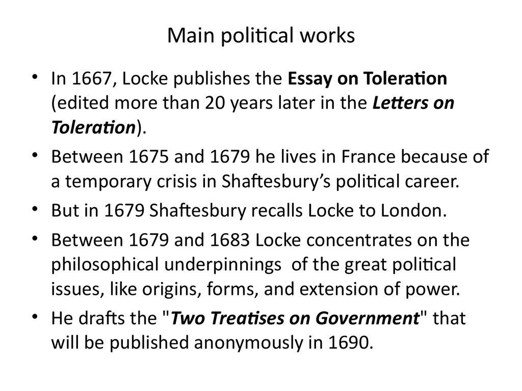 locke essay on toleration