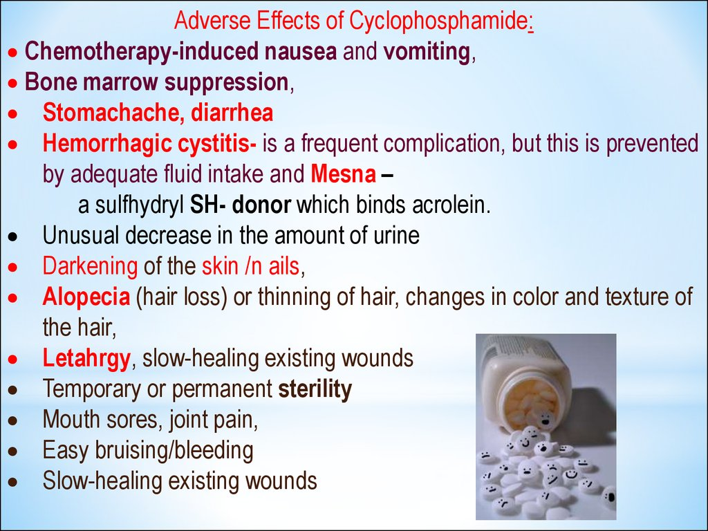 Side Effects Of Chemotherapeutic Drugs Cytostatics