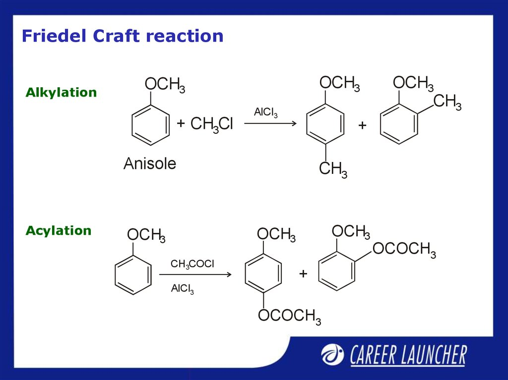 Friedel Craft reaction