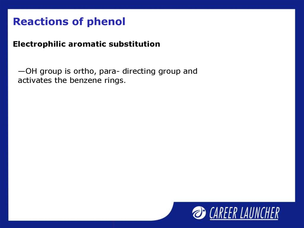 Reactions of phenol