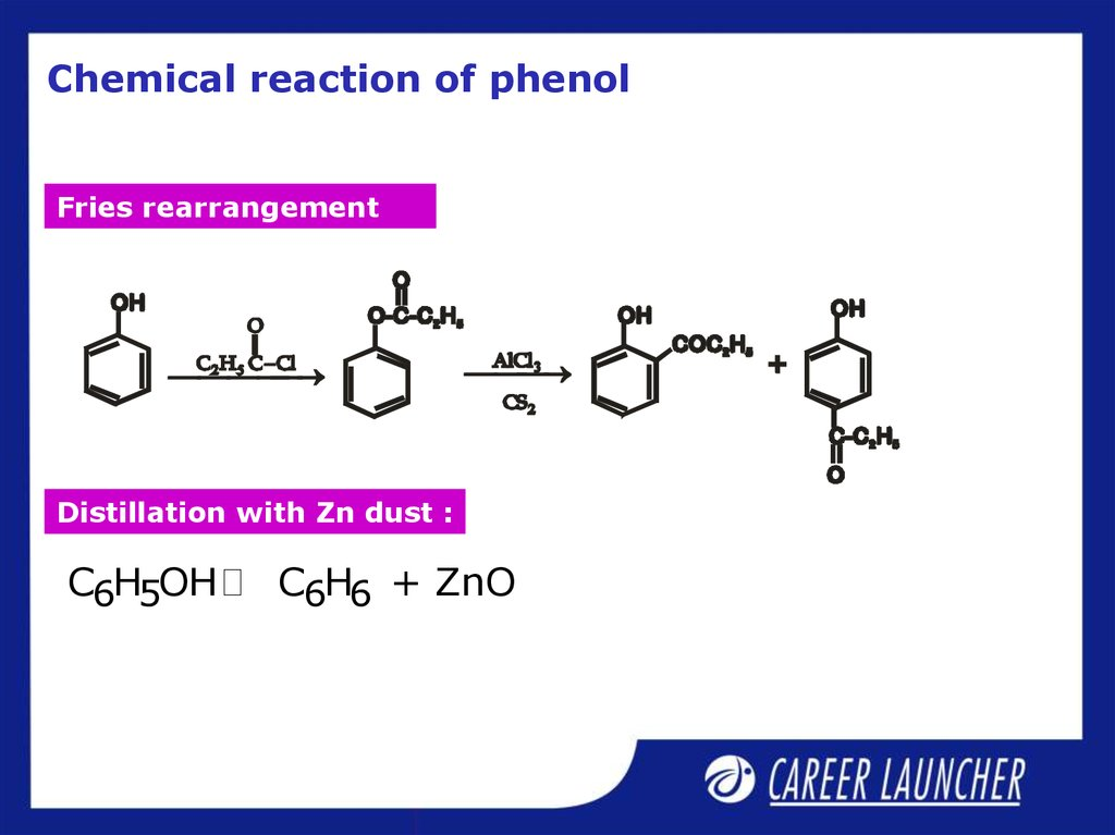 Chemical reaction of phenol