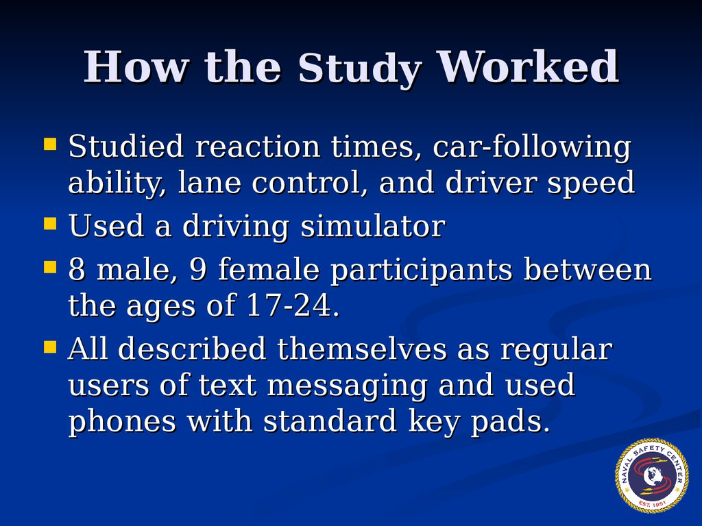 how have the texts studied in The estimate, one of the first scientific attempts to quantify how many people have died in accidents caused specifically by mobile telephone distractions, also suggests a growing number of these drivers are under 30.