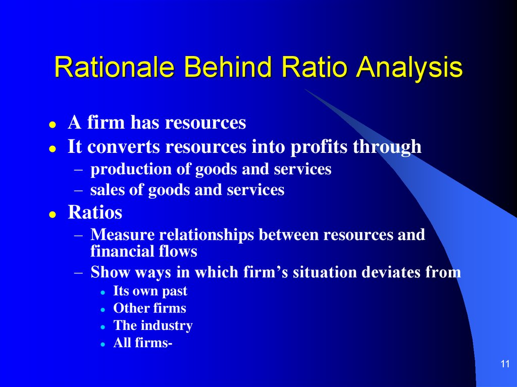 Rationale Behind Ratio Analysis