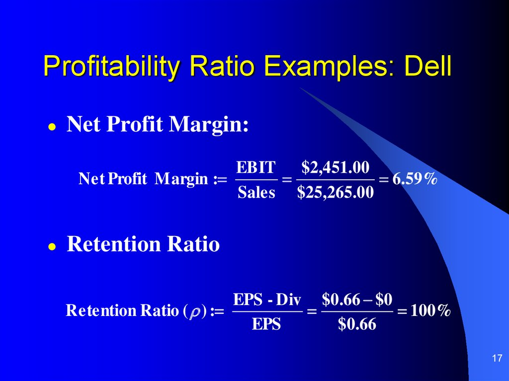 Profitability Ratio Examples: Dell
