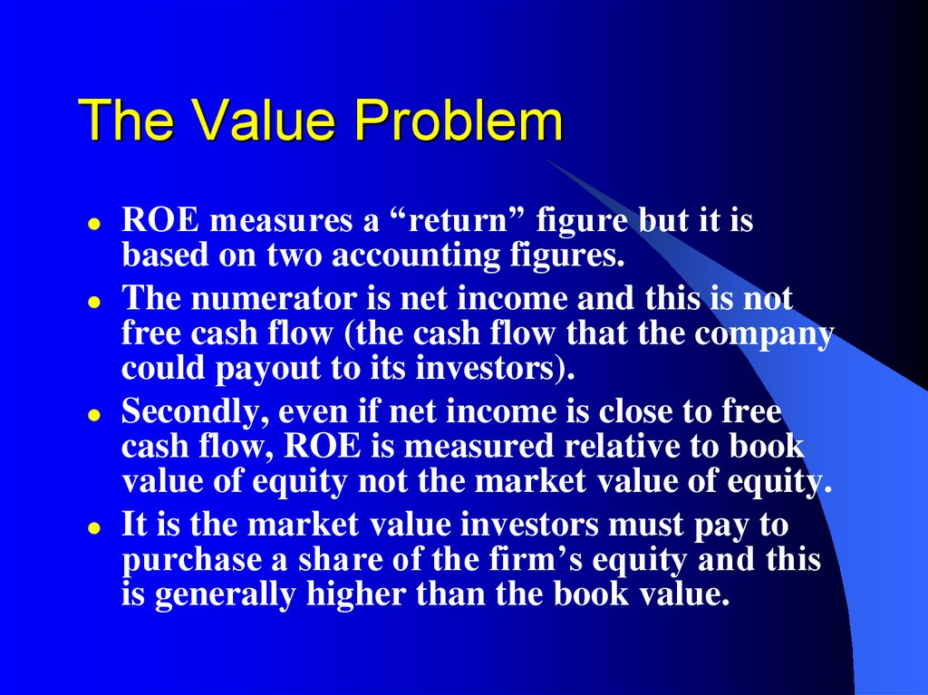 The Value Problem