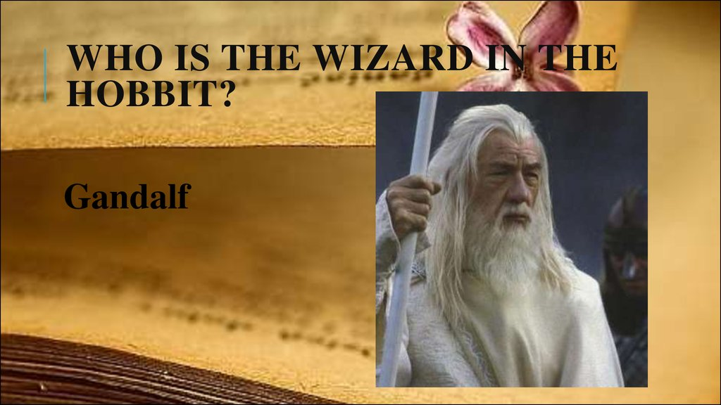 Who is the wizard in The Hobbit?