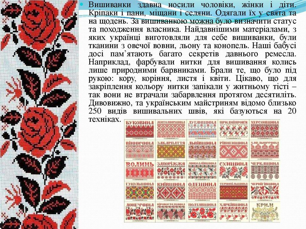 Історія української вишивки - online presentation